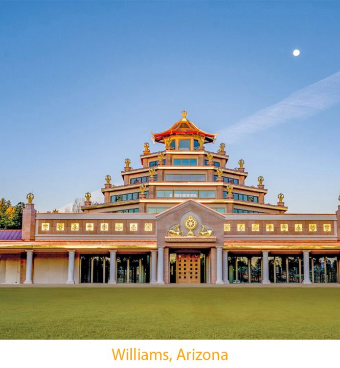 The traditional Kadampa Meditation Temple at Grand Canyon, Arizona