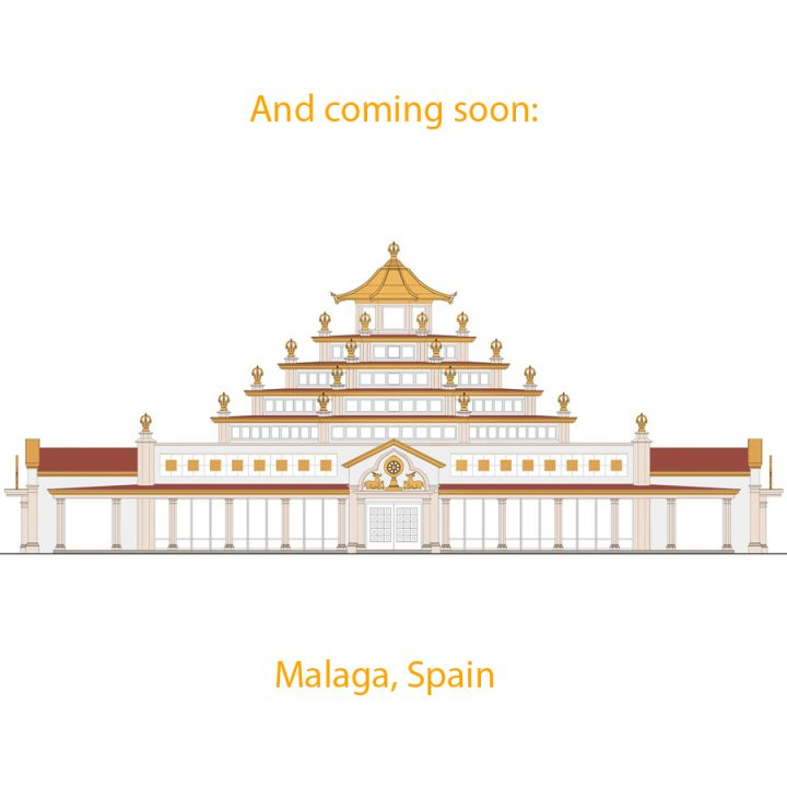 An artist's rendering of the new Temple under construction in Malaga, Spain