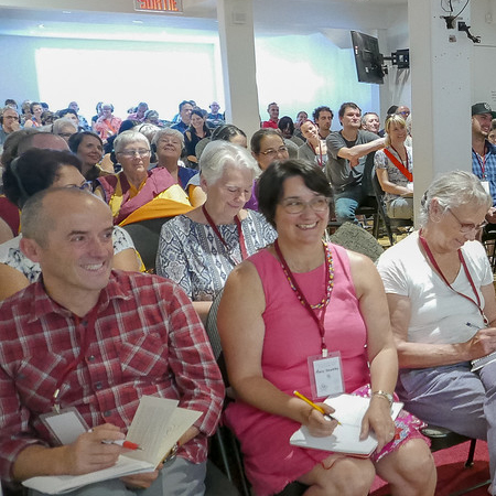 People at a class in the Kadampa Meditation Centre in Montreal