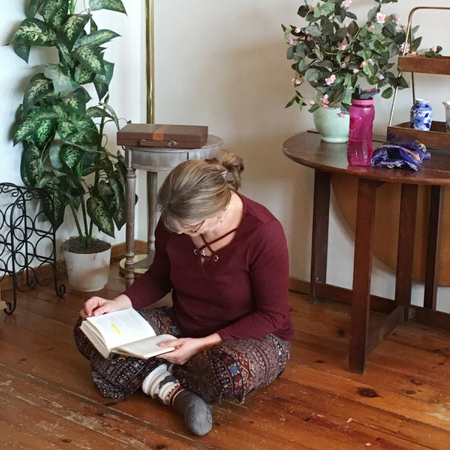Student studying on weekend retreat